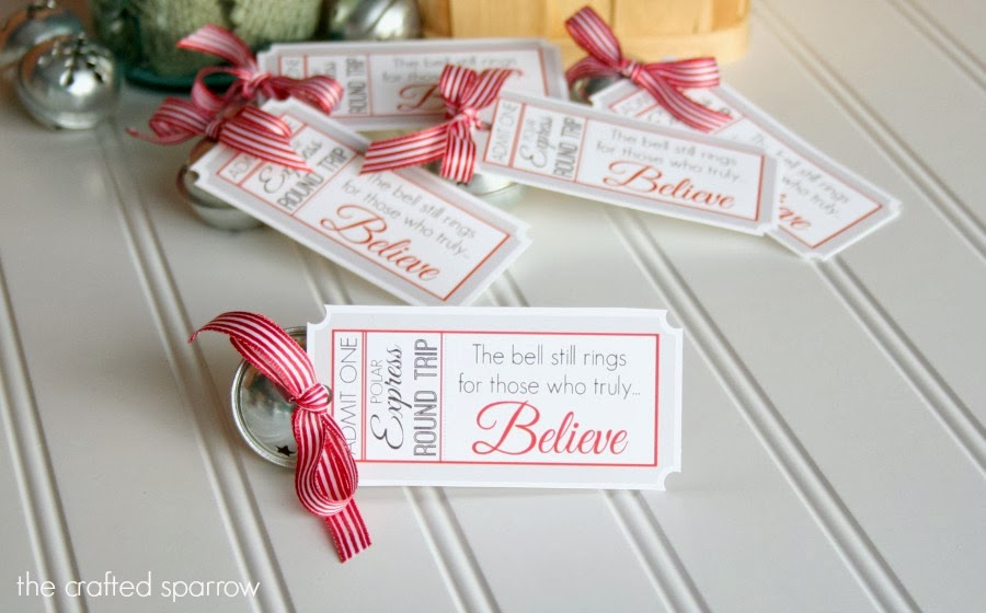 Polar Express Bell Favors Printable Tags