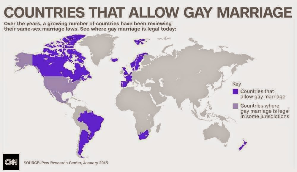 Places where same sex marriage is legal