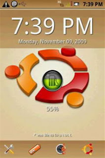 Screenshots of the Android Ubuntu Brown for Android tablet, phone.
