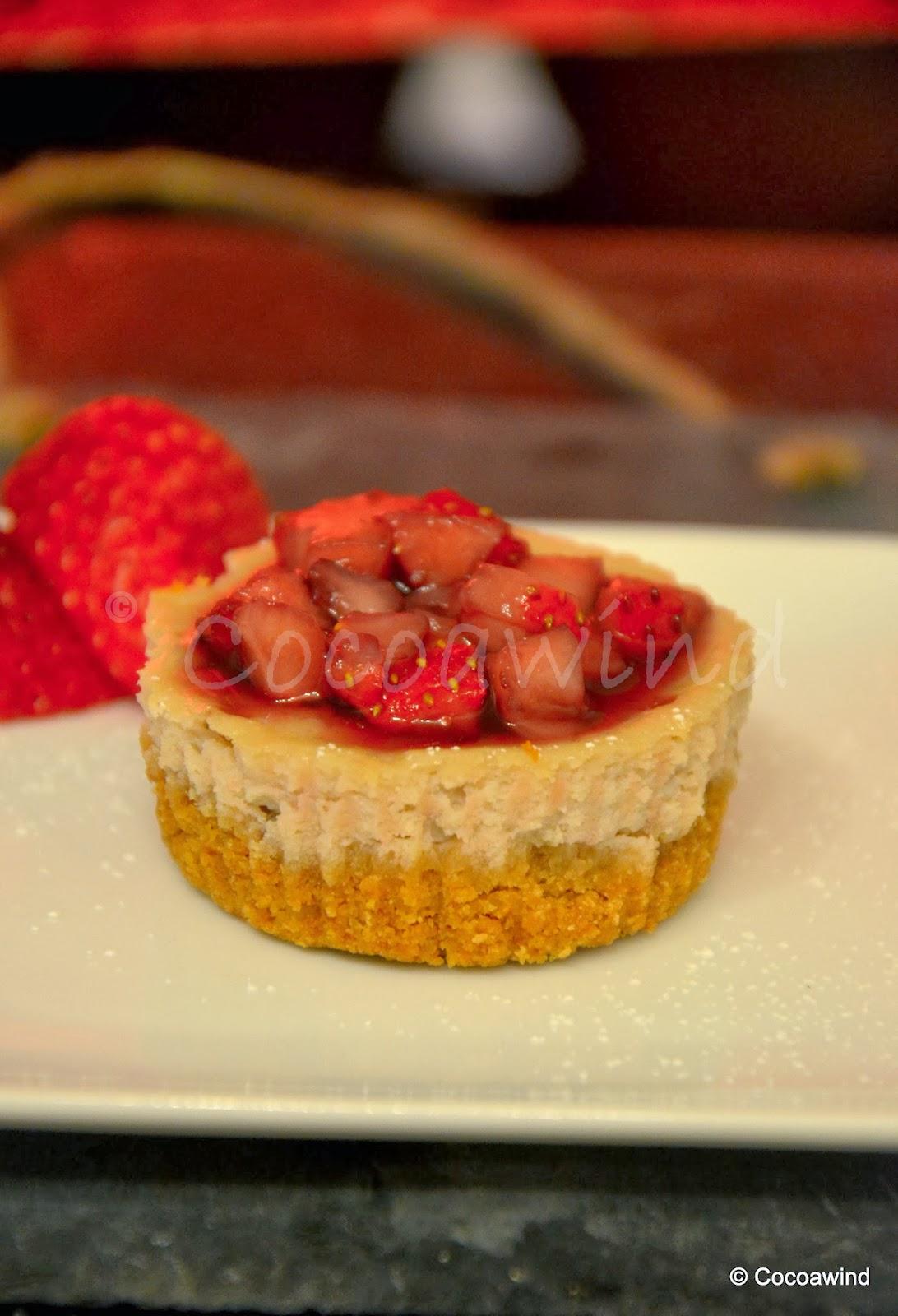 Individual Strawberry Cheesecake