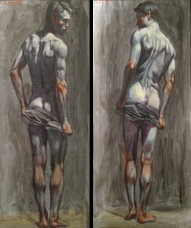 Standing+Male+Nude-oil+on+canvas+36+x+18