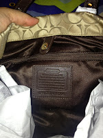 Coach Ashley Signature Carryall Inside