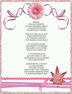 Dia de la Madre, Poemas, parte 1