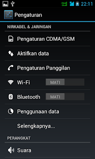Cara Mudah Setting Handphone Android Smartfren Andromax C3 Menjadi Modem di Komputer