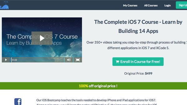 """دورة مجانية لتعليم برمجة 14 تطبيقاً لأجهزة """"آيفون"""""""