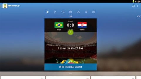 Watch World Cup 2014 App for Android on your phone free