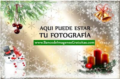 Portaretratos navideño PSD para poner tu foto (Núm. 1)