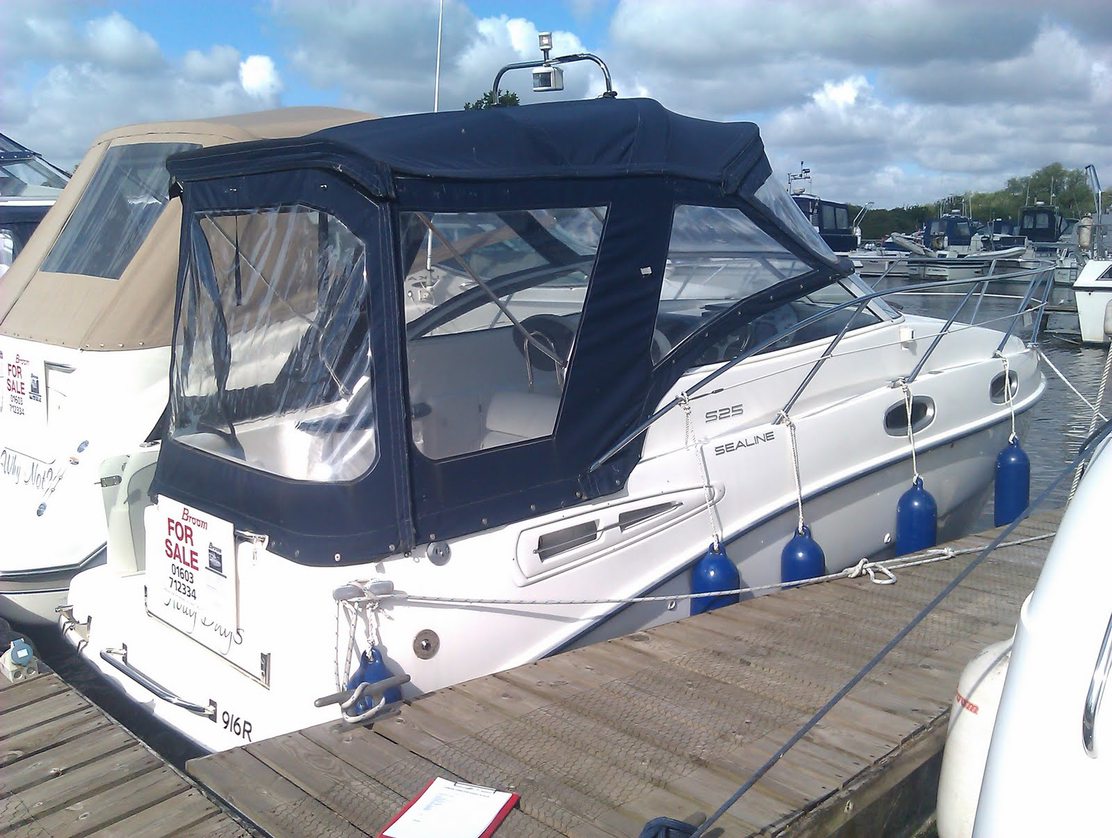 I had the morning at Brooms Boats in Brundall today Surveying this Sealine ...