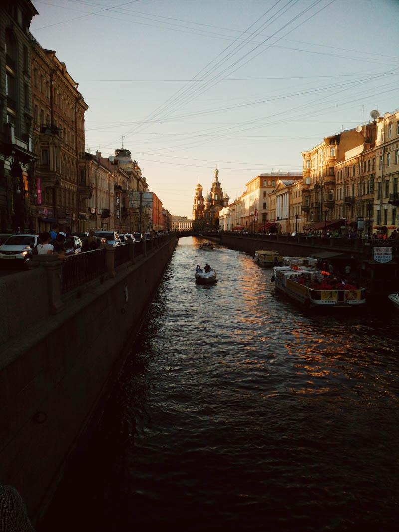 sunset over a canal СПб Питер закат канал Грибоедова