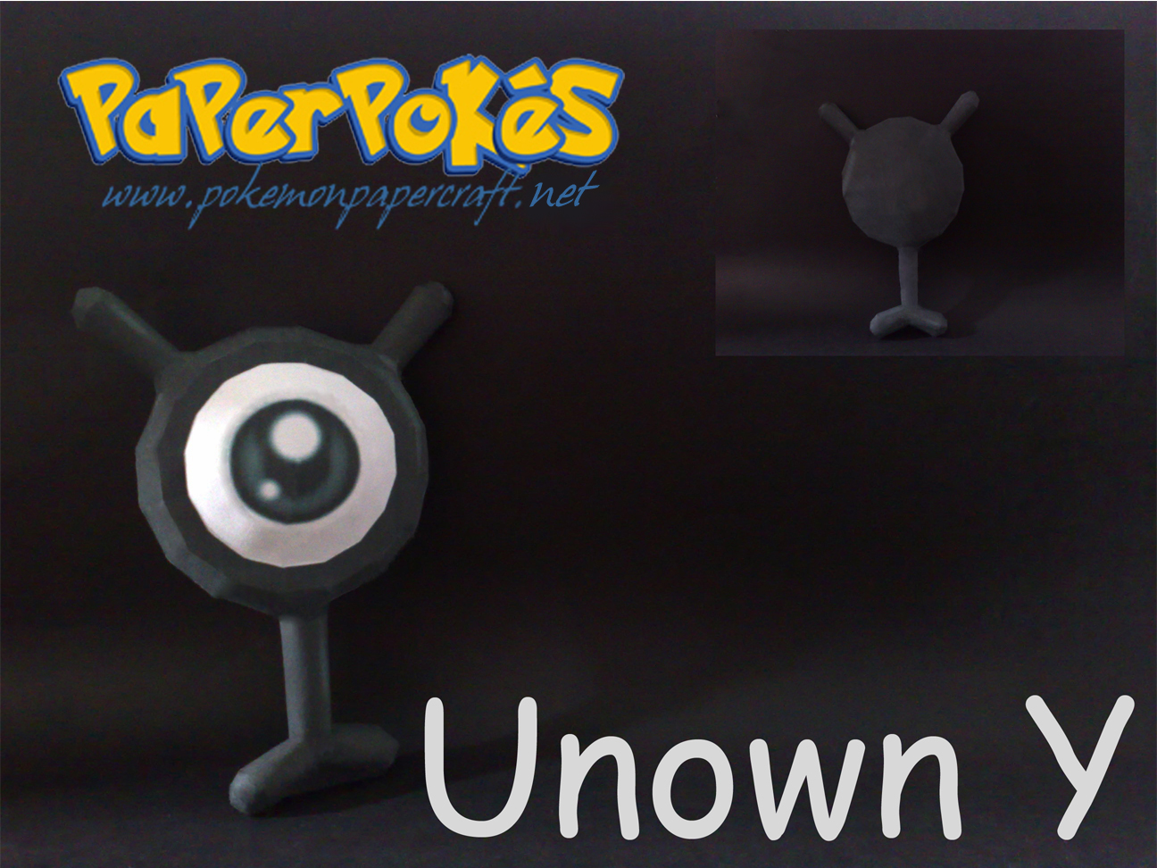 Pokemon Unown Y Papercraft