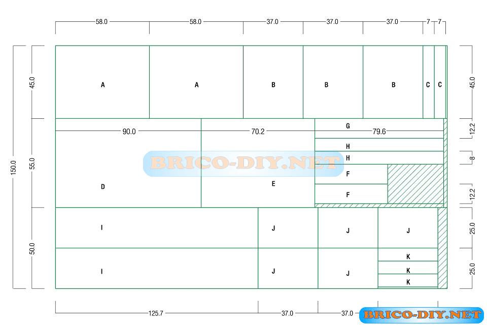 Plano como hacer un mueble escritorio de melamina y for Medidas de un escritorio de oficina