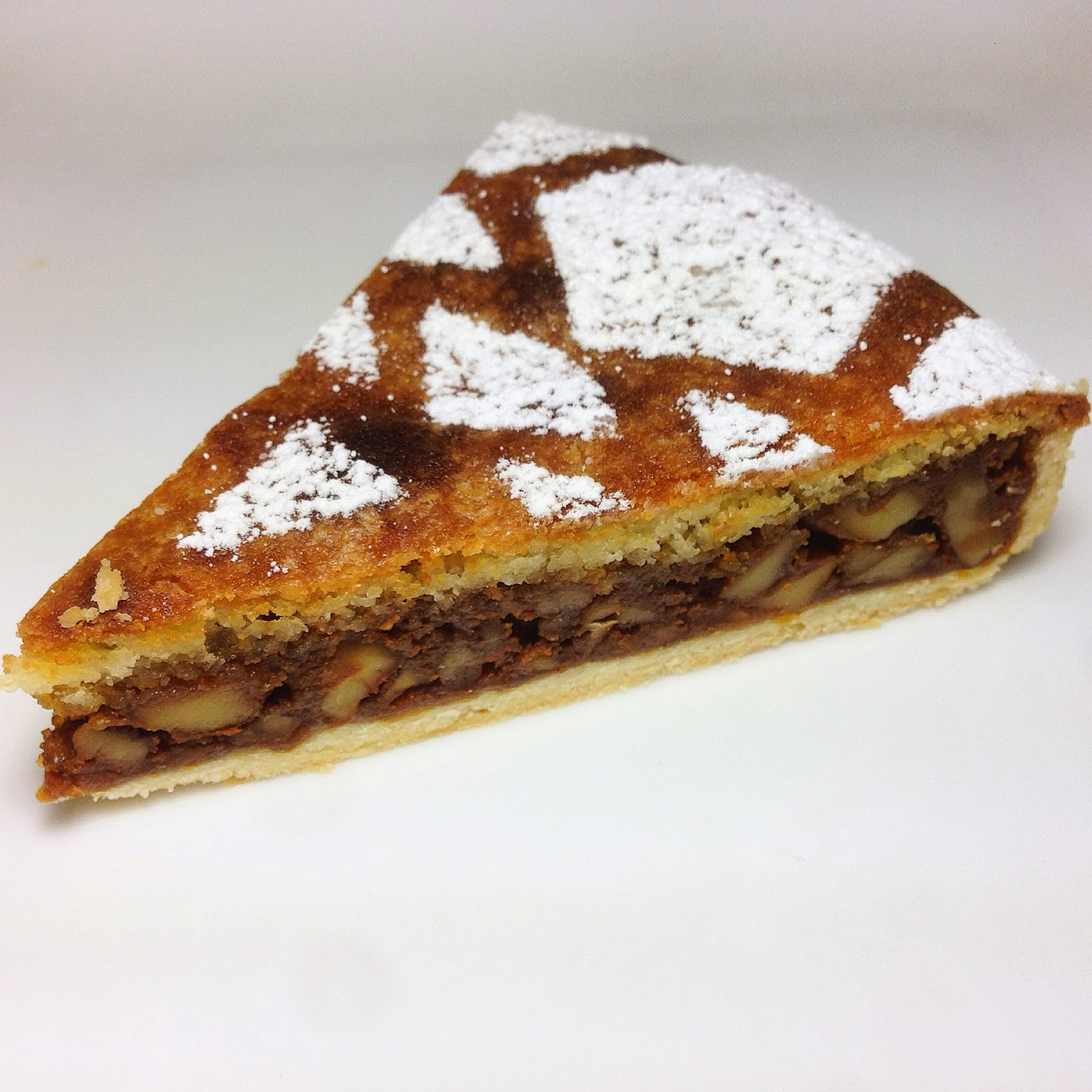 Slice of Caramel Nut Tart (Tarte aux Noix Caramel)