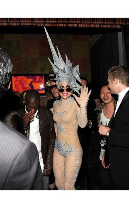 Catsuit Transparan Lady Gaga