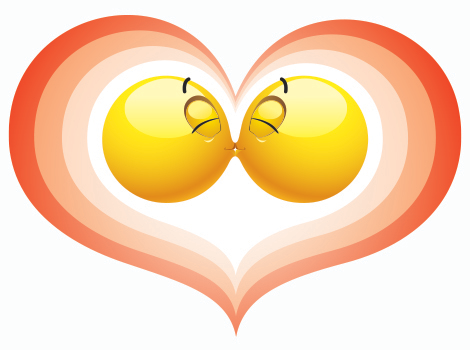 Emoticons French Kissing