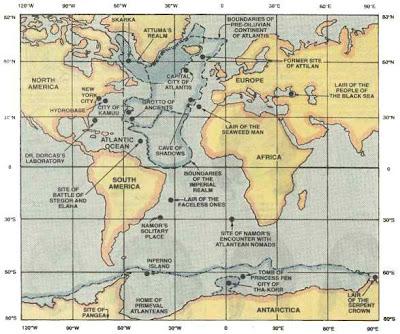 mapa de ubicación de la atlántida