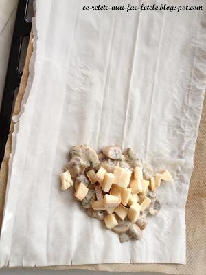 Plăcinte cu ciuperci și mărar - impachetam compozitia