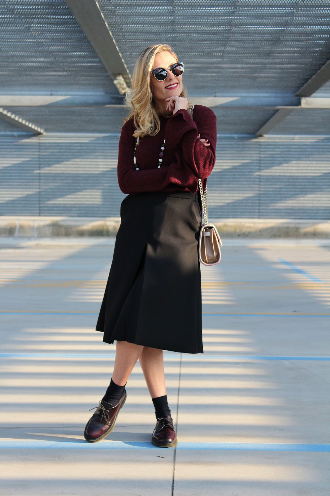 Eniwhere Fashion - Midi skirt e stringate ootd