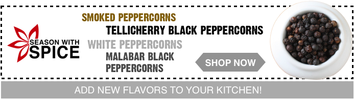 where to tellicherry peppercorns online? season with spice shop