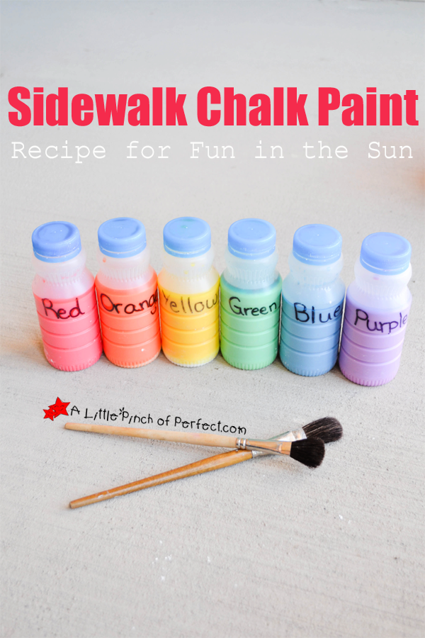 easy homemade sidewalk chalk paint recipe for fun in the sun painting. Black Bedroom Furniture Sets. Home Design Ideas