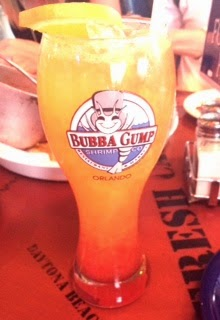Bubba gump shrimp, sunset drink