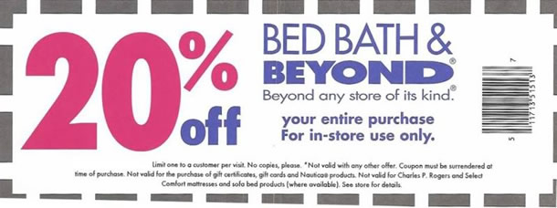 Bed bath and Beyond Discount coupons & Promotional Offers