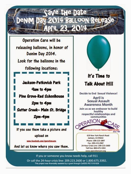 Denim Day 2014 Balloon Release - Wed Apr 23