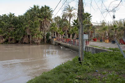 Caudal del arroyo en las inundaciones de febrero de 2010.