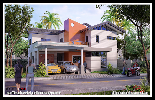 Philippine dream house design two storey house design for One storey house philippines