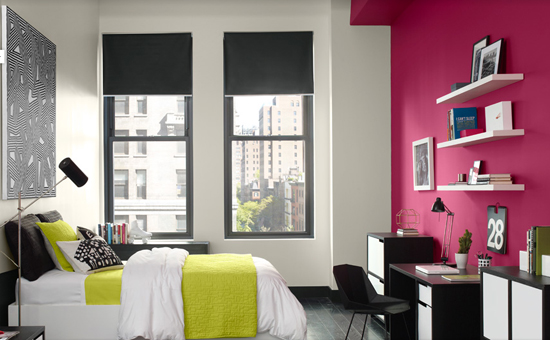 Color zoning exterior design for Fuschia bedroom ideas