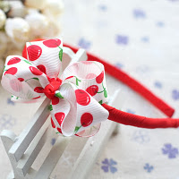 Cherry hair band -- HA705 Price:RM18 per pc