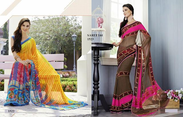 Latest Georgette Printed Saree – Buy Saree Online