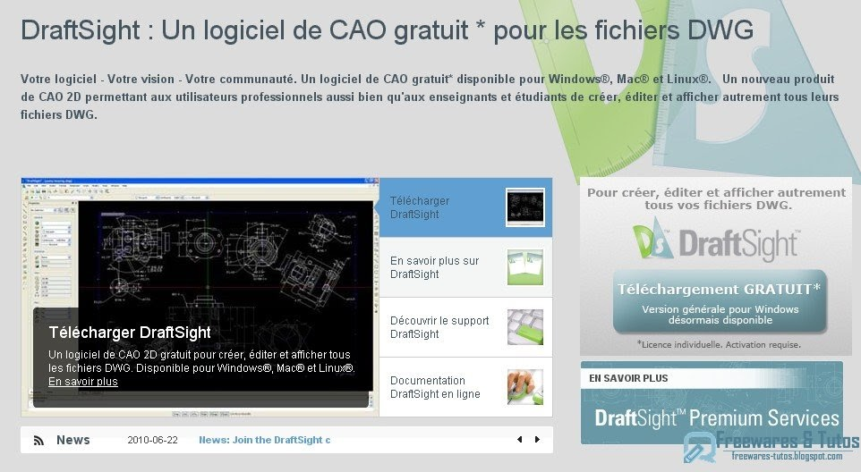 Draftsight un logiciel gratuit de cao 2d freewares tutos Cao open source