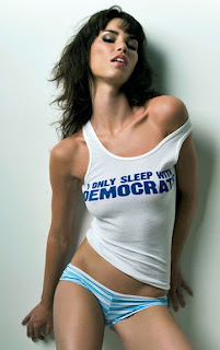 Everything under the Sun blog image where a hot chick wants democrats to fuck and for that sexy babe is using stylish t-shirt quote
