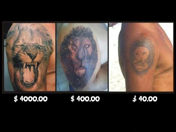 Badass Lion Tattoos And Their Prices