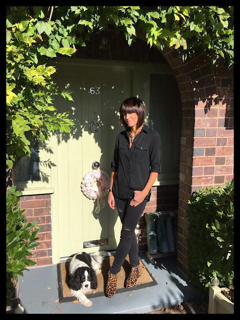 My Midlife Fashion, Zara, Yosa Statement Necklace, Boden Joni Leopard Print Boots, Distressed Denim