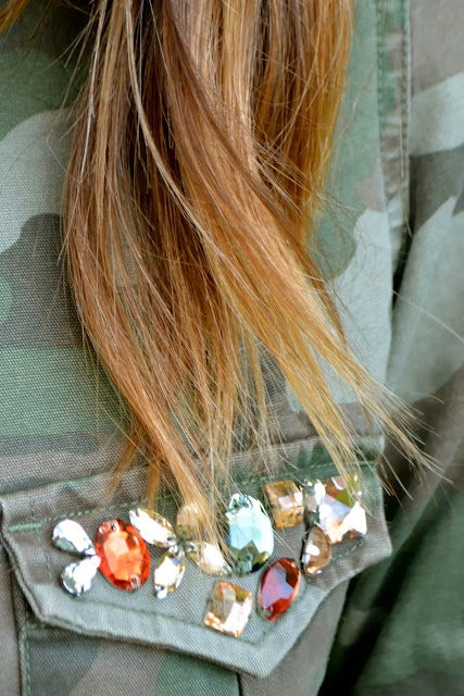 Zara Camo Jacket jewels