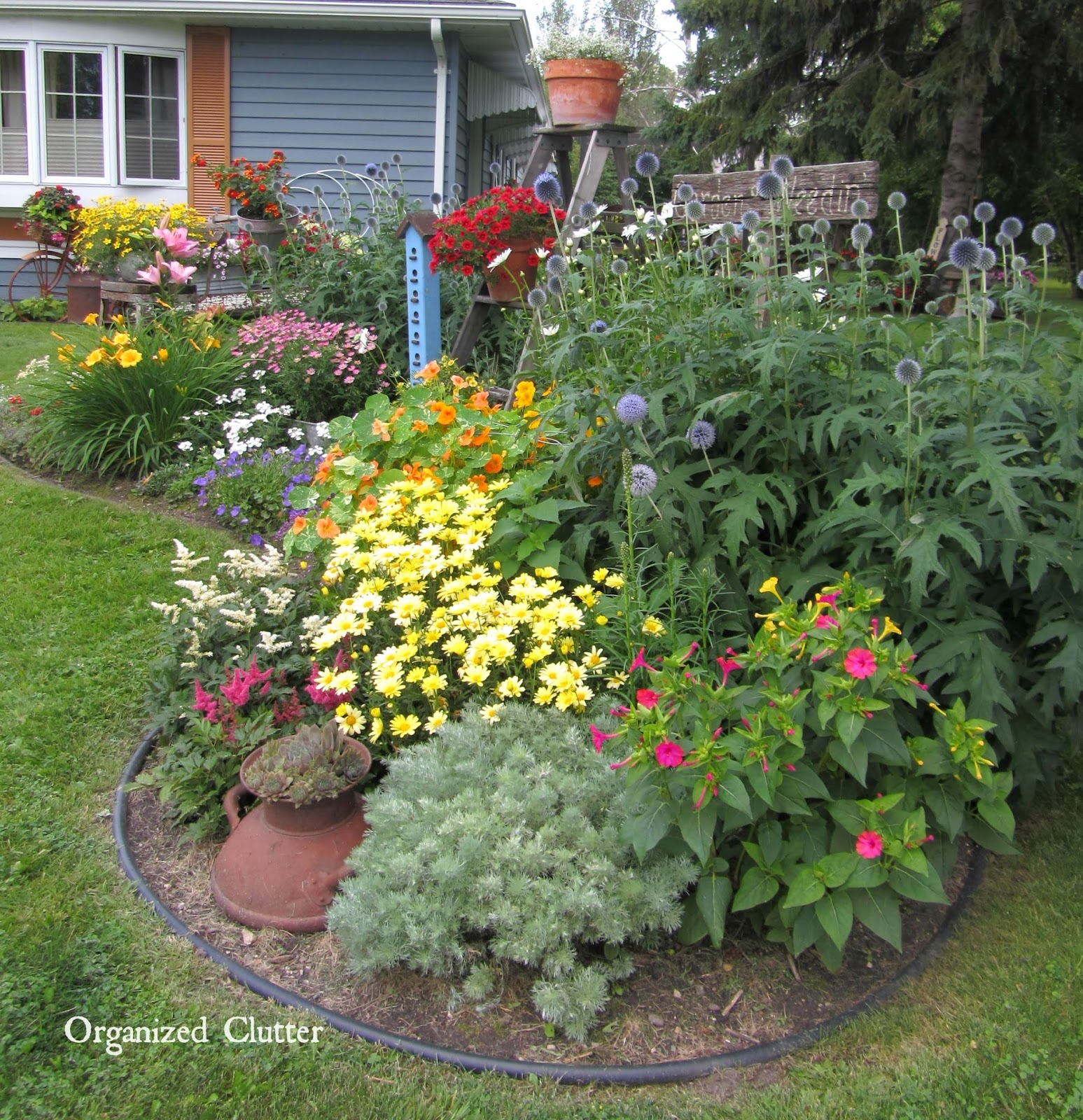 Ideas For Flowers In Backyard: Garden Junk Ideas Galore 2014 Round Up