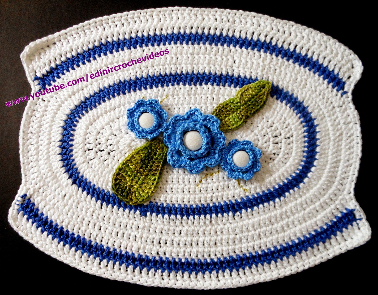 mini caminho mesa croche aprender croche com edinir-croche dvd video-aulas loja curso frete gratis