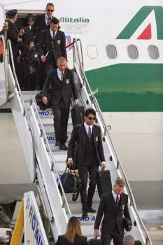 Italy arrives in Brazil