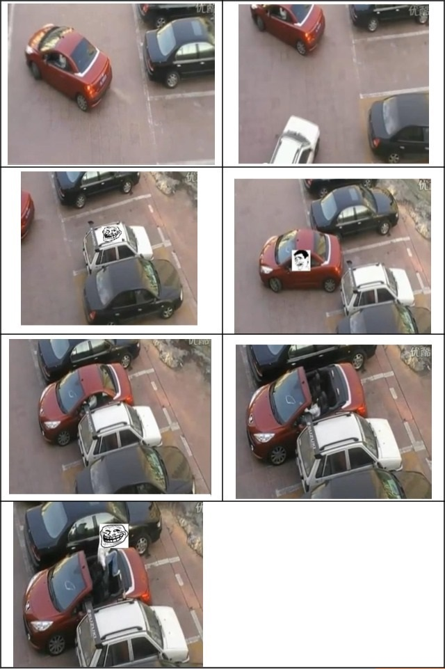 funny picture troll parking