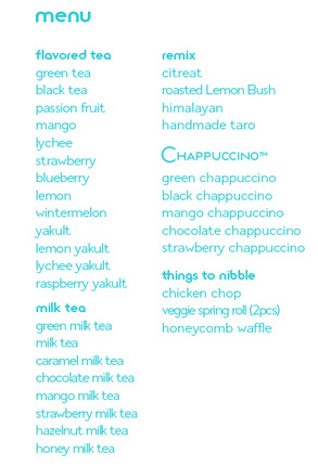 sip milk tea menu
