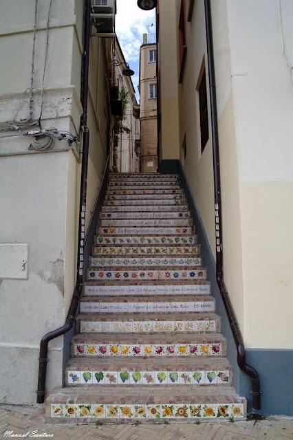 Vasto, scalinata accanto la casa natale di Gabriele Rossetti