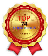 No 9 among TOP 74 FOOD BLOGS