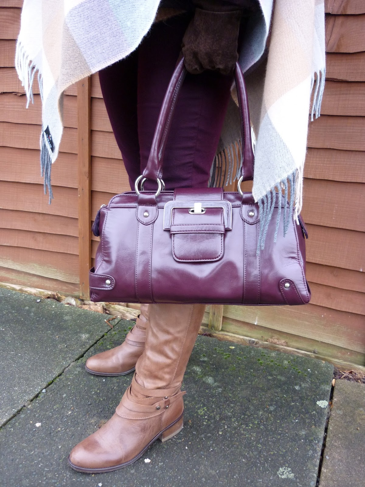 M&S Riding Boots, Debenhams Wine Bowling Bag | Petite Silver Vixen