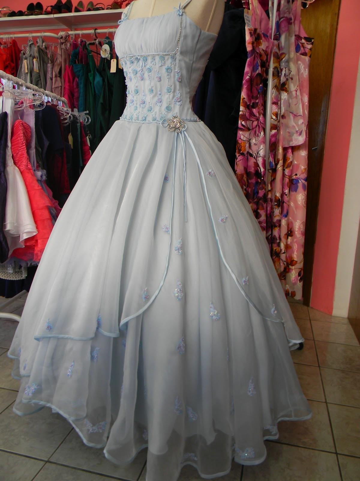 Vestido em Azul Hortência