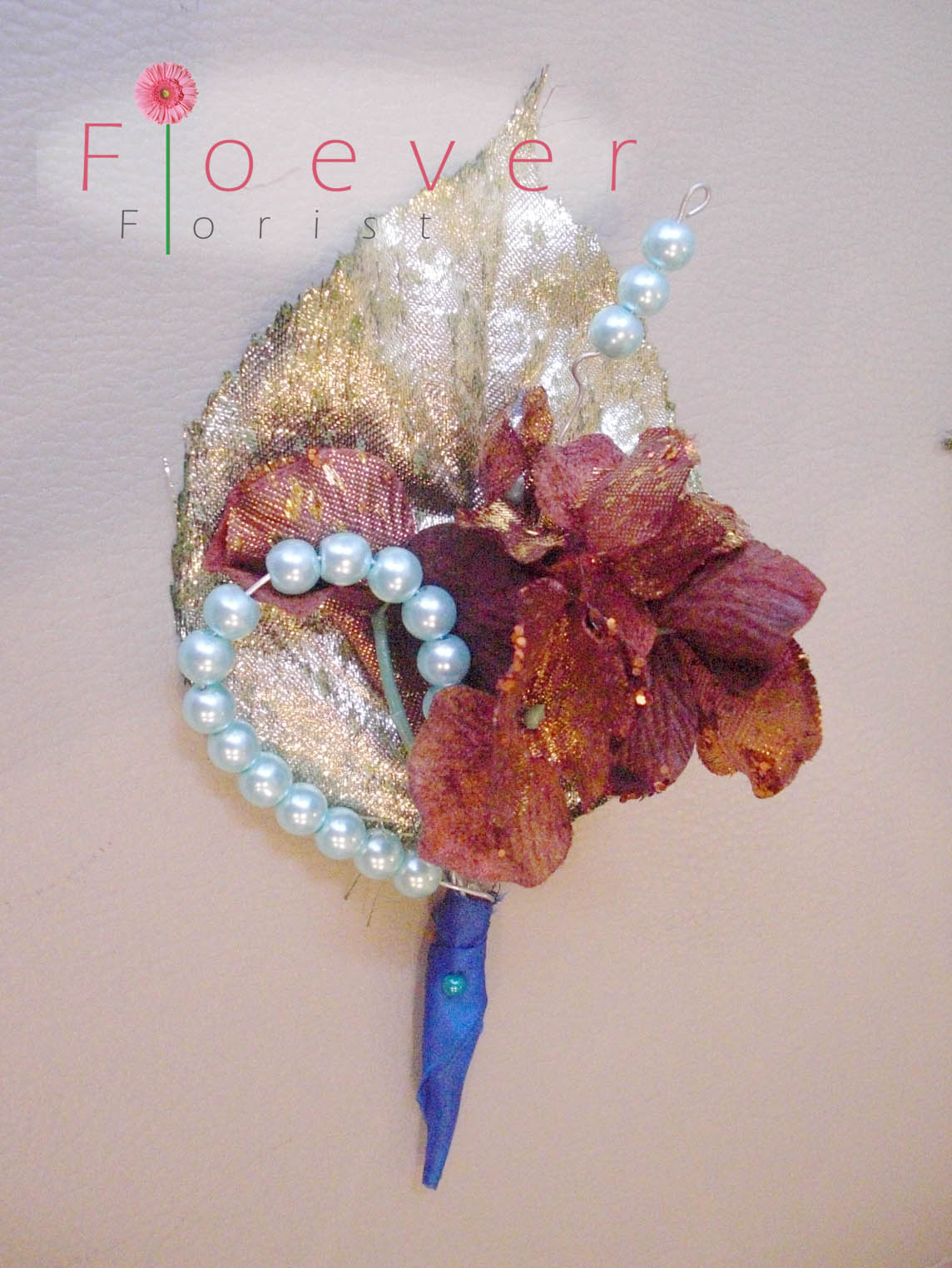Floever Florist Gold and Blue Jewel Bouqet