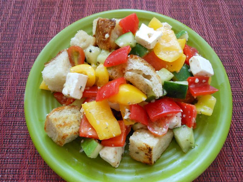 Flavors By Four Greek Panzanella Salad