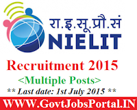 NIELIT Recruitment 2015