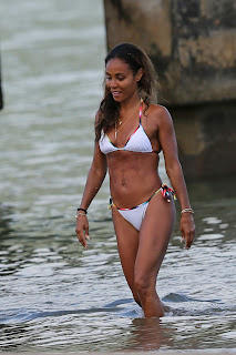 Jada Pinkett Smith hot in white bikini