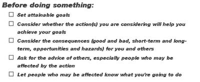 Sample Checklist from checklist.com
